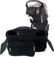 Превосходная сумка-багажник для коляски 4 л. Traum 7009-05, черного цвета