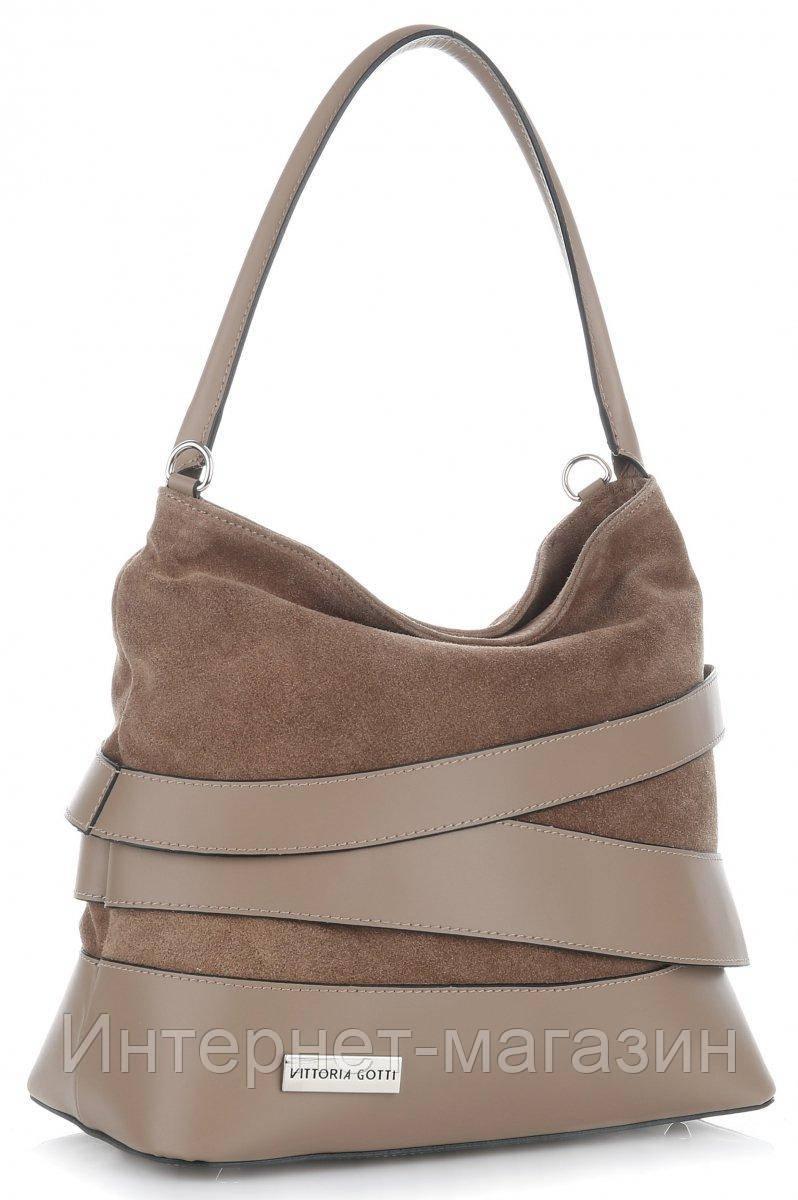ec2a2bd526e6 итальянская женская сумка Vittoria Gotti из натуральной кожи