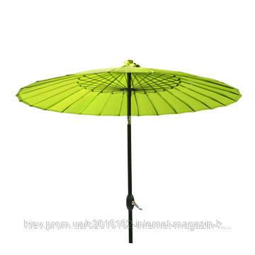 Зонт пляжный большой Garden4you SHANGHAI  D2 13m  Green  with crank  ножка D38mm