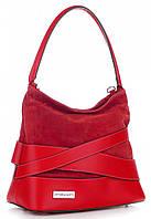 Итальянская женская сумка VITTORIA GOTTI из натуральной кожи, красного цвета