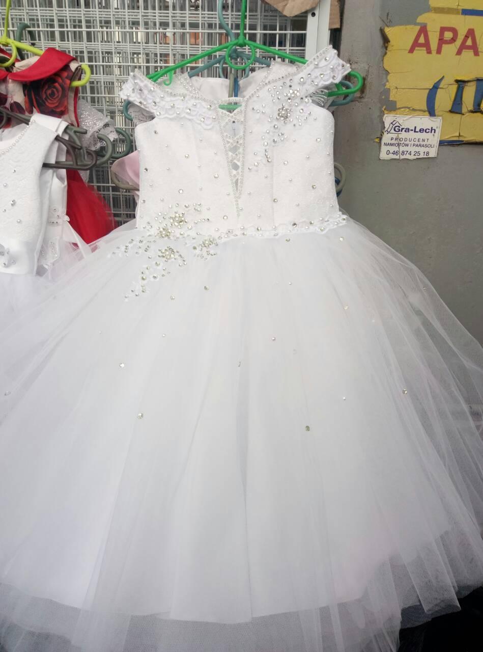 Нарядное бальное детское платье с корсетом