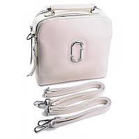Сумка-рюкзак женская кожаная светло-бежевая