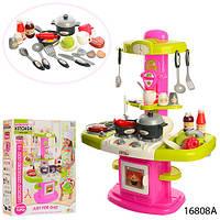 Игровой набор детская Кухня 16808А (посуда,вода, свет,звук)