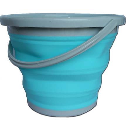 Ведро складное силиконовое (10 литров), фото 2