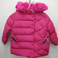 Зимняя курточка для девочки с капюшоном