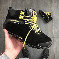 Зимние кроссовки в стиле Merrell Black And Yellow мужские меррелл (С Мехом)  43 e0088f5ca327e