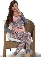 """Оригинальная пижама """"Сердечко"""". Женская пижама. Домашний костюм- кофта и брюки. Пижама с длинным рукавом"""