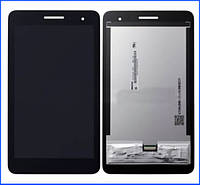 Дисплей (экран) для Huawei T1 (T1-701u) 3G MediaPad с тачскрином в сборе, цвет черный, # TV070WSM-TH3