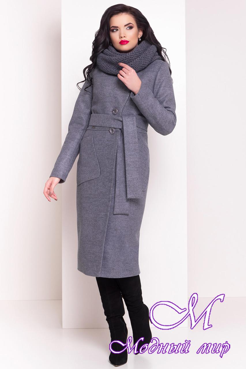 Длинное женское зимнее пальто с хомутом (р. S, М, L) арт. Габриэлла 4151 - 20312