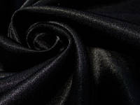 Креп сатин чорний, фото 1
