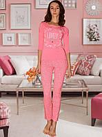 """Оригинальная пижама """"Нежный персик"""". Женская пижама. Домашний костюм- кофта и брюки. Пижама с длинным рукавом"""