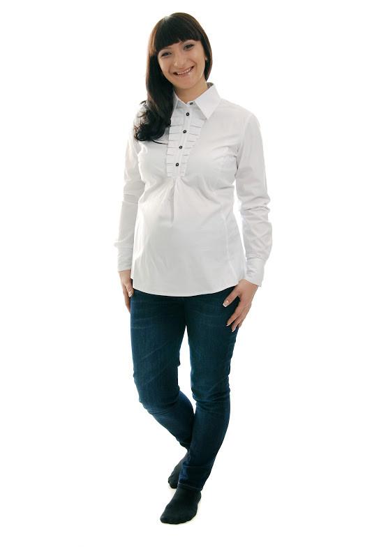 Блуза для беременных ДЕЛОВАЯ МАМА (белая, размер L)