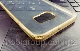 Чехол силиконовый с бампером под металик Samsung S6 Edge