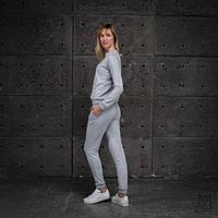 Тёплый костюм для беременных и кормящих мам HIGH HEELS MOM (серый меланж, размер S)