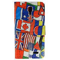 Чехол книжка для Lenovo A536 боковой Double Case, Флаг Британии и Миньон