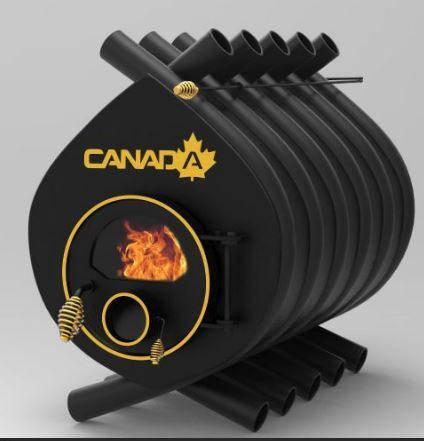 Піч булерьян «CANADA» зі склом «04» 35 кВт-1000 м. куб., фото 2