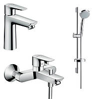 Набор смесителей для ванны 3 в 1 Hansgrohe Talis E (71710000+71740000+27772000)