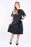 Шикарная юбка с гофре черного цвета
