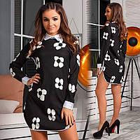 Элегантное платье-рубашка офисного стиля