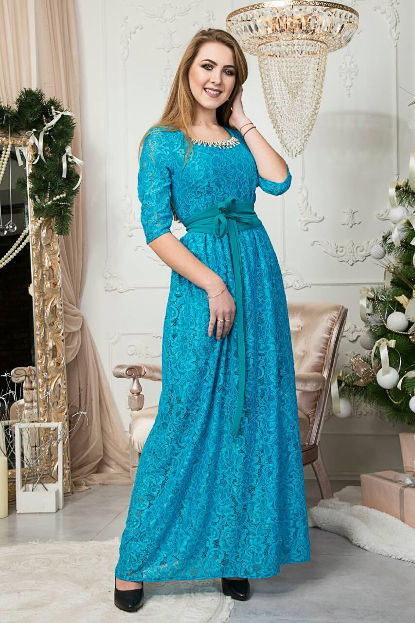 b45bfb174bf2 Вечернее женское платье длинное в пол бирюзового цвета размер 42,44 ...