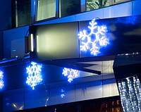 """Новорічна гірлянда """"Сніжинка"""" 24 LED дюралайту 40 см., синя та біла"""