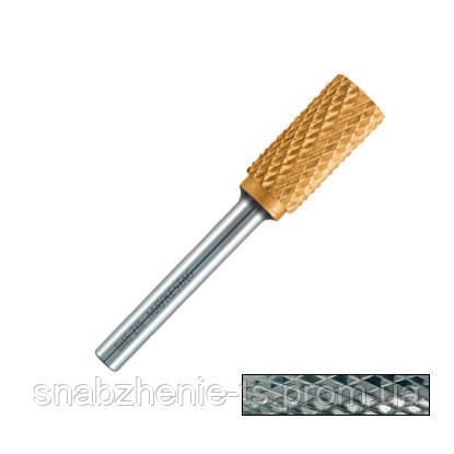Борфреза (шарошка) цилиндрическая с торцовыми зубьями 4,0 х 14,0 х 50 мм хвостовик 6 мм VORM A; насечка 4 сталь MAYKESTAG, фото 2