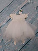 Нарядное платье с пышной юбкой для девочки+повязка, р. 80
