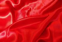 Креп сатин, червоний, фото 1