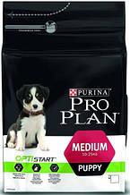 Корм Purina Pro Plan (Пурина Про План) Puppy MEDIUM для щенков средних пород (курица), 12 кг
