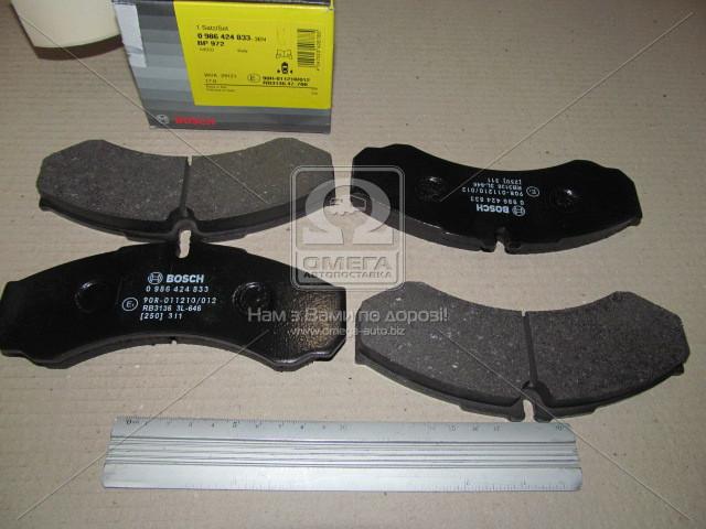 Торм колодки дисковые (производство Bosch) (арт. 0 986 424 833), AEHZX