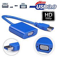 Внешняя видеокарта USB на VGA USB3.0 + диск