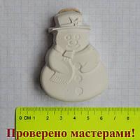 Фигурка из гипса. Гипсовая фигурка для раскрашивания Снеговик