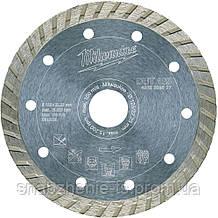 Диск алмазний 125 х 2,3 х 22,23 мм турбо DUT сегм. 10 мм MILWAUKEE