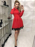 Чудесное платье юбка-колокольчик с кружевом