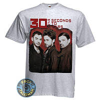 Футболка 30 SECONDS TO MARS (группа) меланжевая