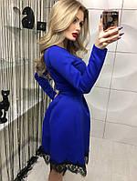 Замечательное платье юбка-колокольчик с кружевом