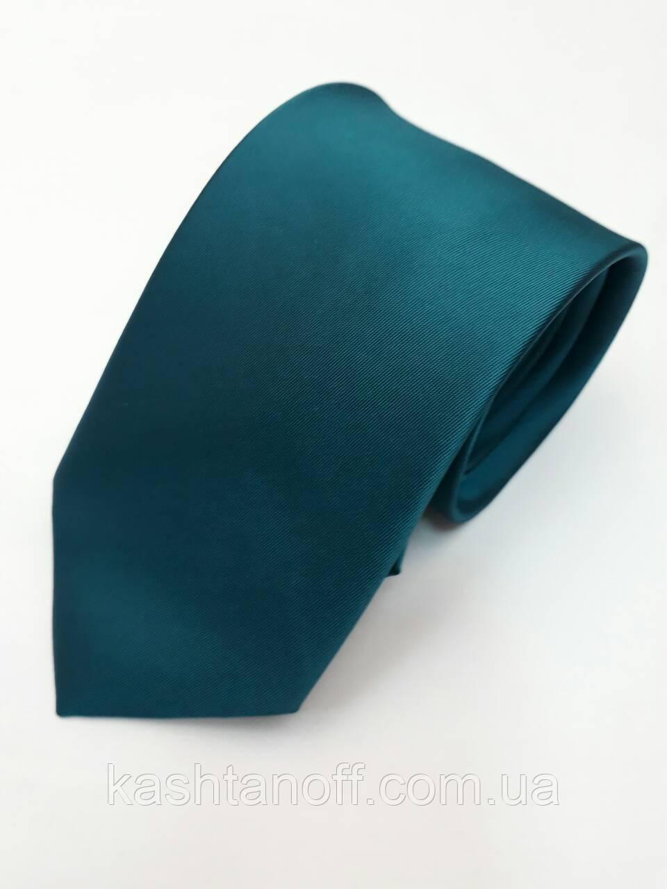 Краватка класичний темна бірюза