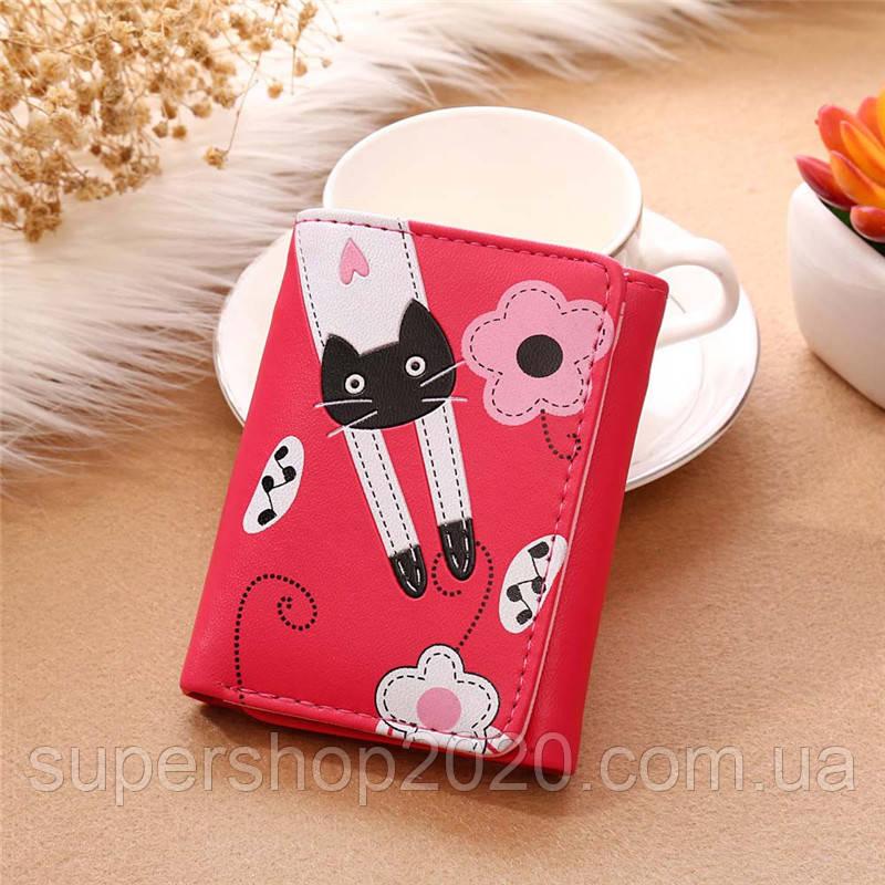 Женский кошелек Cat Hot Pink