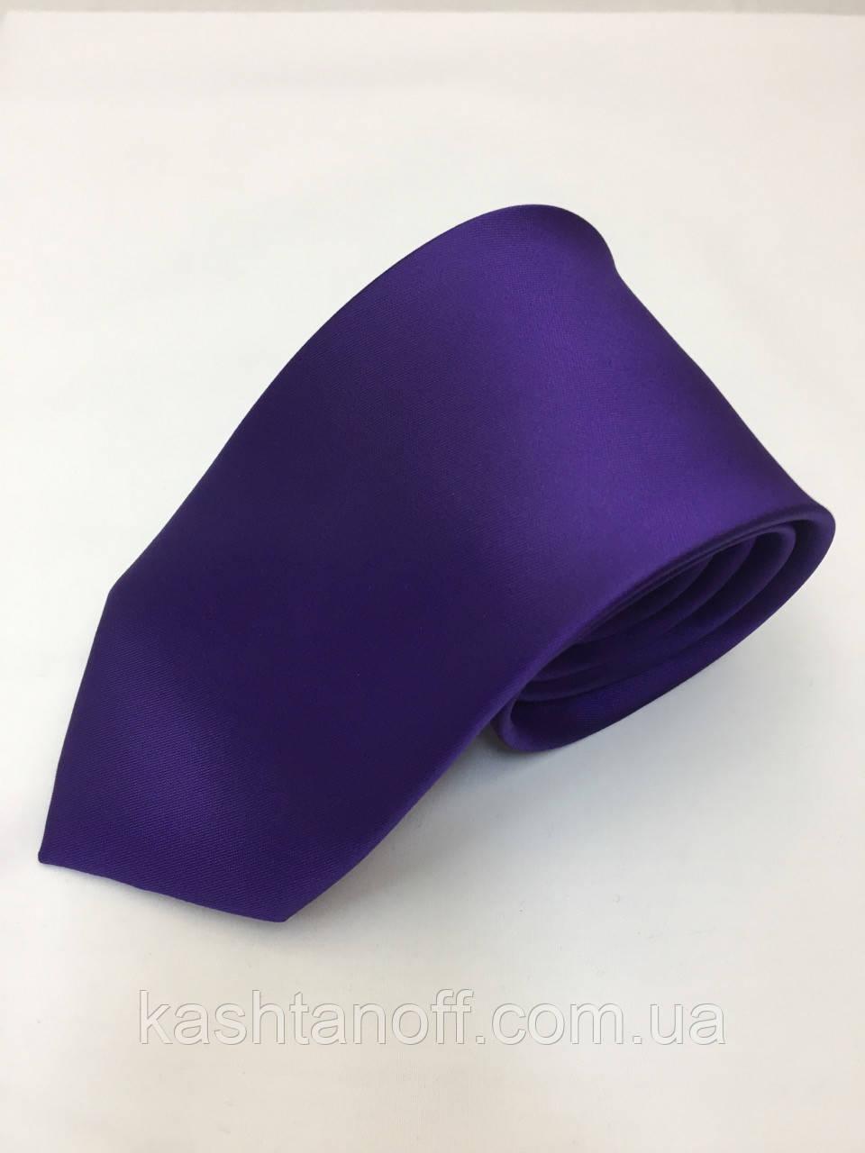 Галстук классический темно-фиолетовый