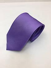 Галстук классический светло-фиолетовый