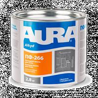 """Емаль для підлоги Aura """"ПФ 266"""" 2,8 кг жовто-коричнева"""
