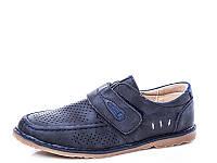Детская весенняя коллекция 2018. Детские туфли с перфорацией бренда Y.TOP для мальчиков (рр. с 32 по 37)