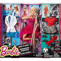 Кукла Barbie  на набором одежды. Barbie Made to Move Doll with Fashion Accessories