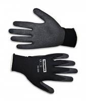 Перчатки рабочие тонкие Technics двойная вязка, волнистый латекс L-XL