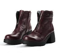 Модные зимние ботинки Zara, бордовый/флотар