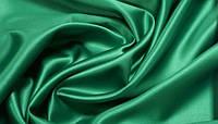 Креп сатин зеленый, фото 1