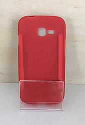 Силиконовый чехол-накладка для Samsung Galaxy  J7 2015 (J700) Красный