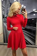 Потрясающее платье юбка-солнце красного цвета