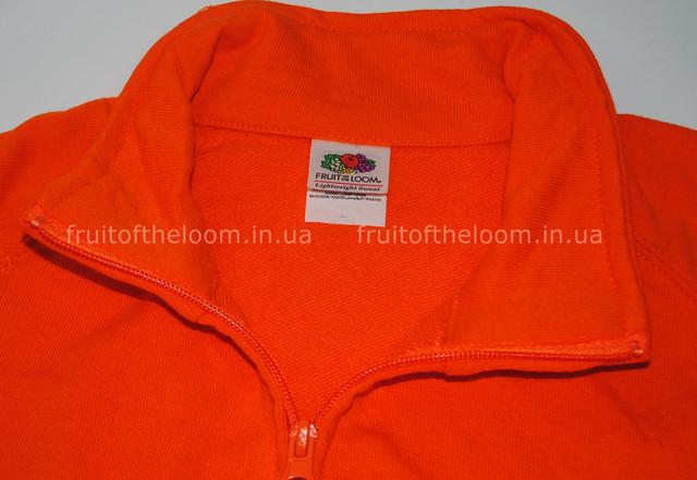 Оранжевая  мужская лёгкая кофта на замке