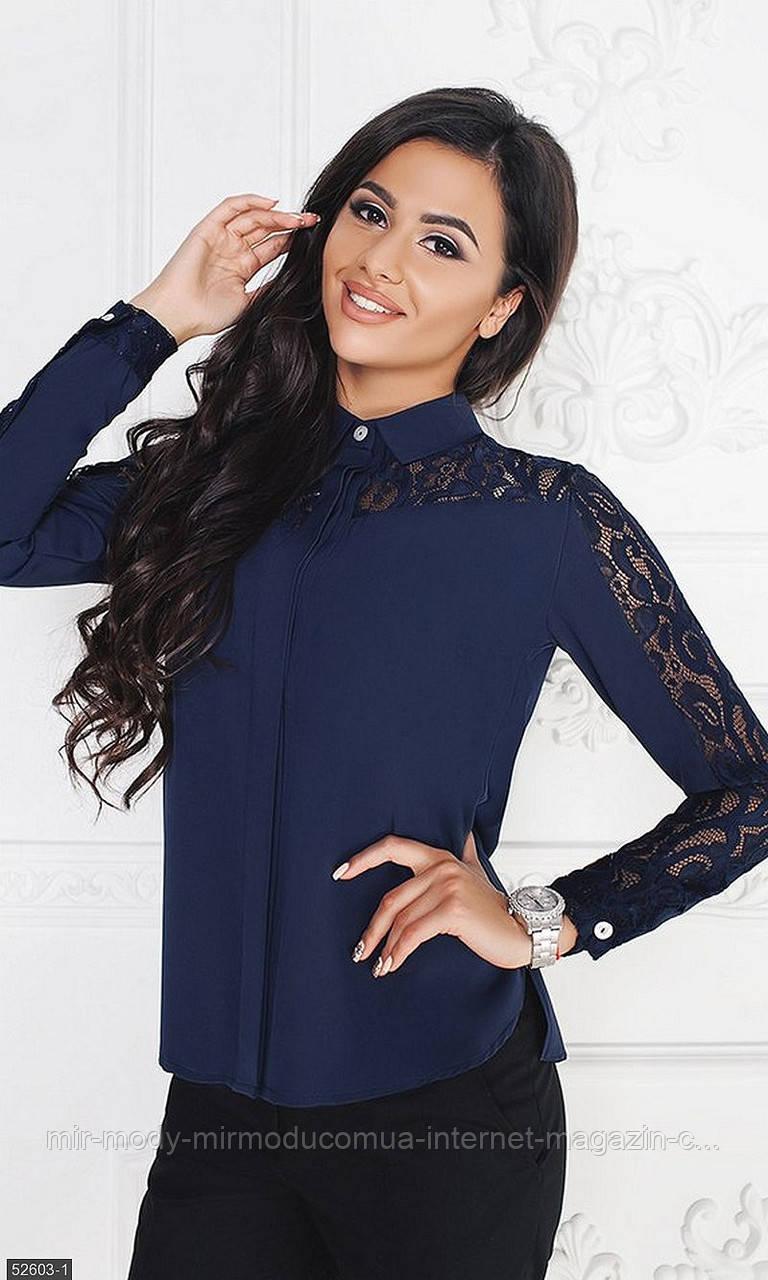 Рубашка 52603-1 темно-синий Осень-Зима(МШ)